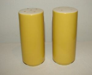 Vintage Ceramic Salt and Pepper Shakers Yellow Made in Japan