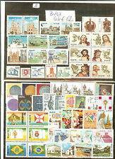 BRESIL LOT TIMBRES THEMES RELIGION CROIX EGLISES PAPES  ECT ...COTE € 62