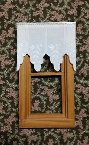 """Dollhouse Curtains - Shade - Soft White - 3 """" wide 2 1/2 """" Long"""