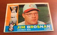 1960 Topps # 449 Jim Brosnan Cincinnati Reds Baseball Card