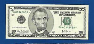 2003A CHCU $5 STAR NOTE CHICAGO DISTRICT ONLY 640000 PRINTED