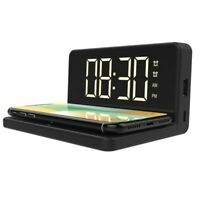 QFX(R) WCH-110 QFX Fast Wireless Charger with Dual Alarm Clock