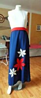 Vintage 1960's Red, White, and Blue Maxi Dress