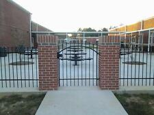 Ornamental Iron Walk Entry Gate 4 Ft Wd Ss Fencing Commercial Residential