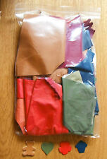 VEG-TAN LEATHER SHEEPSKIN OFF CUTS, CRAFT PACK, 600 GM, ASSORTED COLOURS, 0.8 mm