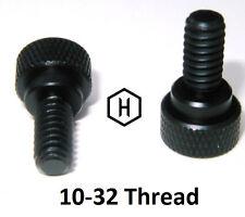"10-32 x 7/16 "" Knurled Thumb Screw (10 Pieces) Aluminum Black Anodized Finish"