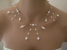 Collier couleur Ivoire p robe de Mariée/Mariage/Soirée, perles nacrées (pas cher