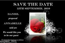10 PERSONALISED WEDDING SAVE THE DATE CARDS WITH MAGNETS