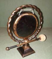 Vintage Brass Dinner Gong 24 x 18 cms