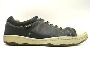 Simple Original Black Leather Cap Toe Lace Up Casual Sneakers Shoes Men's 11 M