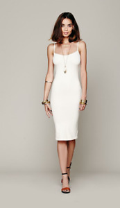 NEW Free People Intimately Tea Length Seamles Slip Dress in Ivory XS/S-M/L 45.03