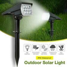 Outdoor Solar Spot Light Landscape LED Stake Lights Garden Pathway Lawn Lights