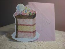 Carol's Rose Garden - Happy Birthday - A Yummy Slice of Cake on the front