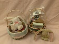 Longaberger Easter Basket Combo, Set of 2 with many included accessories