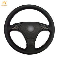 Durable Black Artificial Leather Steering Wheel Cover Wrap for BMW E36 E46 E39