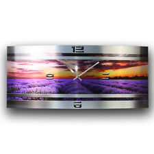 Lavendel Metallic Funk Wanduhr leise Funkuhr modernes Design * Made in Germany