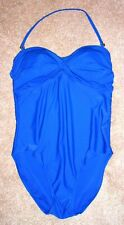 Alicia Simone Blue One-Piece Bandeau Style Swimsuit with Neckstrap-14
