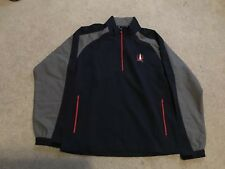 New Footjoy FJ Sport Windshirt Pullover Long Sleeve Blue/Gray/Red Medium