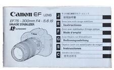 Canon EF lens ef75-300mm f4-5, 6 is-guía de 2002