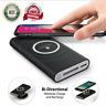 500000mAh Qi DIY LED Power Bank Case Kit Wireless Charger Charging USB Type-C