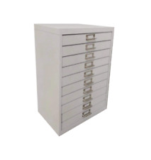 More details for 10 multi drawer steel filing cabinet grey - brand new - free shipping
