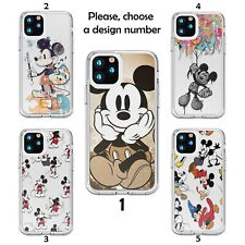 Case Galaxy s20 s10 S9 + plus Note 20 10 Ultra Silicone clear SN Mickey Mouse