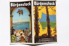 23114 viaje folleto ciudadanos bastón en lucerna alrededor de 1930 títulos sign en serio.
