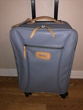 Jon Hart Luggage Suitcase Wheels Carry On 20in Gray MNM Initials