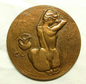 Médaille Monnaie de Paris Paul Verlaine env 7,2 cm 174 gr 1973 bronze D Flourat