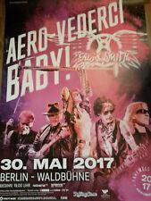 Aerosmith Aero-Vederci Baby! Tour 2017 Konzert Plakat Concert Poster Berlin 84cm
