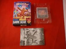 Woody Pop (Sega Game Gear, 1991) COMPLETE w/ Box manual game WORKS!