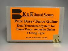 NEW K&K Sound Pure Bass/Tenor 4-String Acoustic Bass 4-stri Guitar Pickup w/Jack