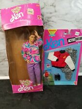 Vintage Totally Hair Ken Mattel No 1115 1991and Sealed Ken Outfit 665 w Box Rare