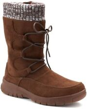 5d3df9ac1431 Womens Itasca Deidre Winter Boot Brown 8 Traction Knit Collar Scotchgard  Lace up