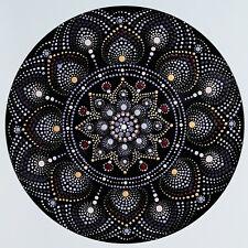disc-mandala 9 / vinyl record mandala art handmade painting