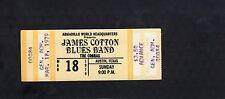 1979 James Cotton The Cobras unused full concert ticket Austin Tx Armadillo