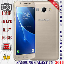 Samsung Galaxy J5 (2016) 4G LTE SM-J510F 16GB Android Unlocked Phone 13MP Gold