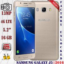 Samsung Galaxy J5 (2016) 4G LTE SM-J510F 16GB Android Unlocked Phone 13MP Gold