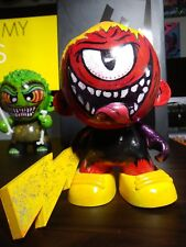 CUSTOM KID ROBOT COLLECTABLE FIGURE HAND PAINTED MUNNY RED CYCLOPSE MONSTER!