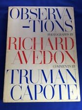 OBSERVATIONS - FIRST BRITISH EDITION BY RICHARD AVEDON AND TRUMAN CAPOTE