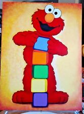 """Elmo Acrylic Painting Canvas 18""""x24"""" Perfect for Children's room/Wall Decor"""