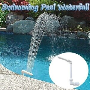 Adjustable Swimming Pool Waterfall Fountain Water Fall Spay Stand Tube Equipment