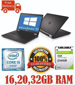DELL LATITUDE E5480 LAPTOP INTEL CORE i5-6300U 6th Gen CPU@2.4Ghz 32GB 256GB SSD