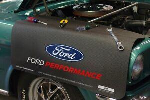 Black Fender Gripper Protective Cover Cushion w/ Ford Performance Logo / Emblem