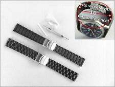 Extra Long 20mm & 22mm Watch Band Strap for Men with Large Big Wrist, with Tool