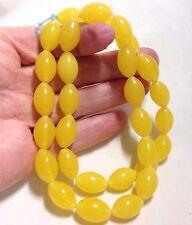 Yellow Mini Peking Tomato Glass Beads, Approx.30 Beads & 16X10mm