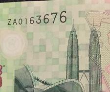 Zeti rm5 replacement prefix ZA 0163676  polymer banknote  very nice !