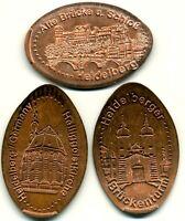 Heidelberg ●●● 3x Elongated Coins - kompletter Satz ●●● aus 5 Cent
