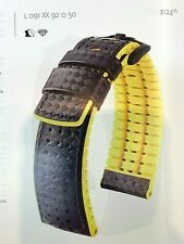 Ayrton Hirsch 24mm made in Austria Active Carbon Watch Band Caoutchouc Backing