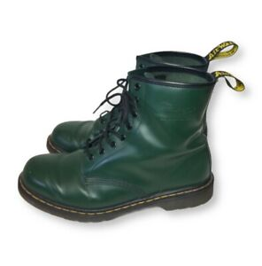 Dr Martens Air Wair With Bouncing Soles Mens 11 Womens 12 Green Leather Boots